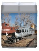 Galloping Goose 7 In The Colorado Railroad Museum Duvet Cover