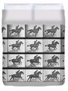 Galloping Horse Duvet Cover by Eadweard Muybridge