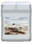 Galveston Gull Duvet Cover