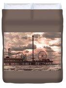 Galveston Island Morning Duvet Cover