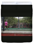 Game Behind The Fence Duvet Cover