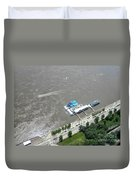 Gaming On The River Boats Duvet Cover