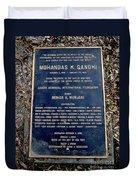 Gandhi Plaque Duvet Cover