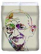 Gandhi Watercolor Duvet Cover
