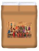Ganges Pilgrims Duvet Cover