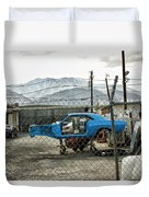 Garage Days Palm Springs Duvet Cover