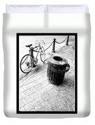 Garbage Bike  Duvet Cover