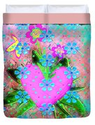 Garden Art - Abstract  Duvet Cover