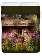 Garden - Belvidere Nj - My Little Cottage Duvet Cover by Mike Savad