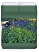 Garden Bench And Sage Duvet Cover