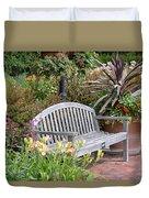 Garden Benches 3 Duvet Cover