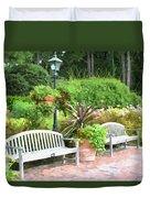 Garden Benches 7 Duvet Cover
