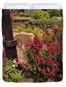Garden Bush At Woodward Park 2f Duvet Cover