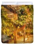 Garden Flowers With Bench Photo Art 02 Duvet Cover