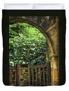 Garden Gate In Sarlat Duvet Cover by Elena Elisseeva