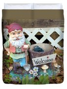 Garden Gnome - Square Duvet Cover