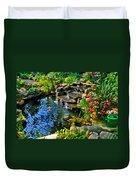 Garden Goldfish Pond Duvet Cover