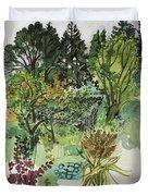 Garden In Llandielo, 1999 Watercolour On Paper Duvet Cover