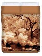 Garden Lily Pond Duvet Cover