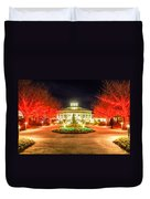 Garden Night Scene At Christmas Time In The Carolinas Duvet Cover