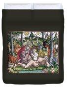Garden Of Eden Historiae Animalium Duvet Cover