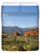 Garden Of The Gods And Pikes Peak - Colorado Springs Duvet Cover