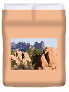 Garden Of The Gods And Red Rocks Open Space Duvet Cover