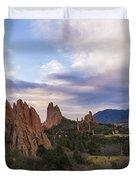Garden Of The Gods At Sunrise - Colorado Springs Duvet Cover