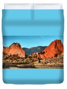 Garden Of The Gods Sunrise Panorama Duvet Cover