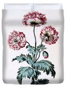 Garden Poppy With Black Seeds Duvet Cover