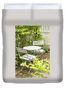 Garden Seating Area Duvet Cover