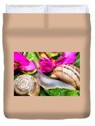 Garden Snails Duvet Cover