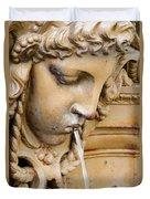 Garden Statue Of Tethys Duvet Cover