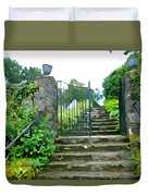 Garden Steps Duvet Cover