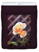 Garden Tea Rose Duvet Cover