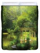 Garden - The Temple Of Love Duvet Cover