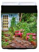 Garden Treasures At Aunt Eden's By Diana Sainz Duvet Cover