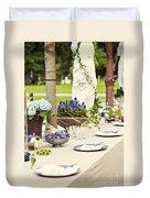 Garden Wedding Table Setting Duvet Cover