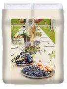 Garden Wedding Table Duvet Cover