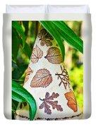 Garden Leaf Pattern Windchime Duvet Cover