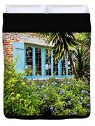 Garden Window Db Duvet Cover by Rich Franco