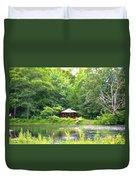 Garden With Pond Duvet Cover