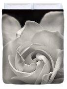 Gardenia Bloom In Sepia Duvet Cover