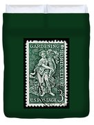 Gardening And Horticulture Vintage Postage Stamp Print Duvet Cover