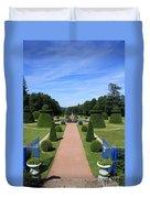 Gardenpath With Blue Gates - Burgundy Duvet Cover