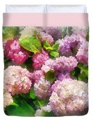 Gardens - Pink And Lavender Hydrangea Duvet Cover