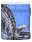 Gargoyle On Sacre Coeur Duvet Cover