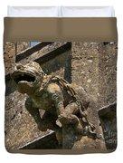 Gargoyle On The Church Of St Mary At Sudeley Castle Duvet Cover