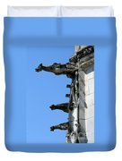 Gargoyles In A Row Duvet Cover
