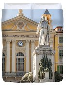 Garibaldi Monument In Nice France Duvet Cover